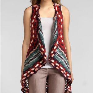 Boho Summer Festival Crochet Vest Sz M